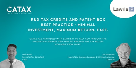 R&D and Patent Box best practice - minimal investment, maximum return. Fast tickets