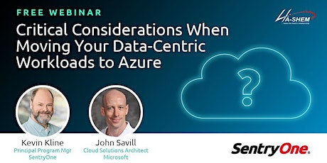 Critical Considerations When Moving Your Data-Centric Workloads to Azure tickets