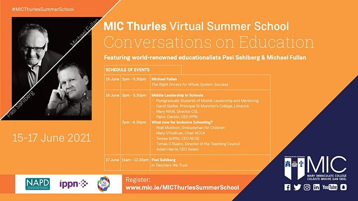 MIC Thurles Summer School - Conversations on Education image