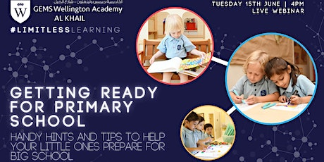 Getting Ready for Primary - Handy Hints and Tips tickets