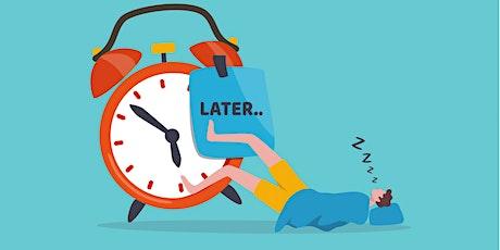 Workshop: Stop Procrastinating! bilhetes