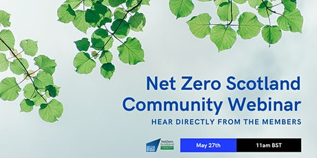 Net Zero Scotland Community Webinar tickets