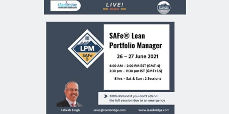 SAFe® Lean Portfolio Management Virtual 26 – 27 June 2021 biglietti