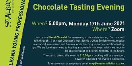 Chocolate tasting with CoE Young Professionals and Hotel Chocolat tickets