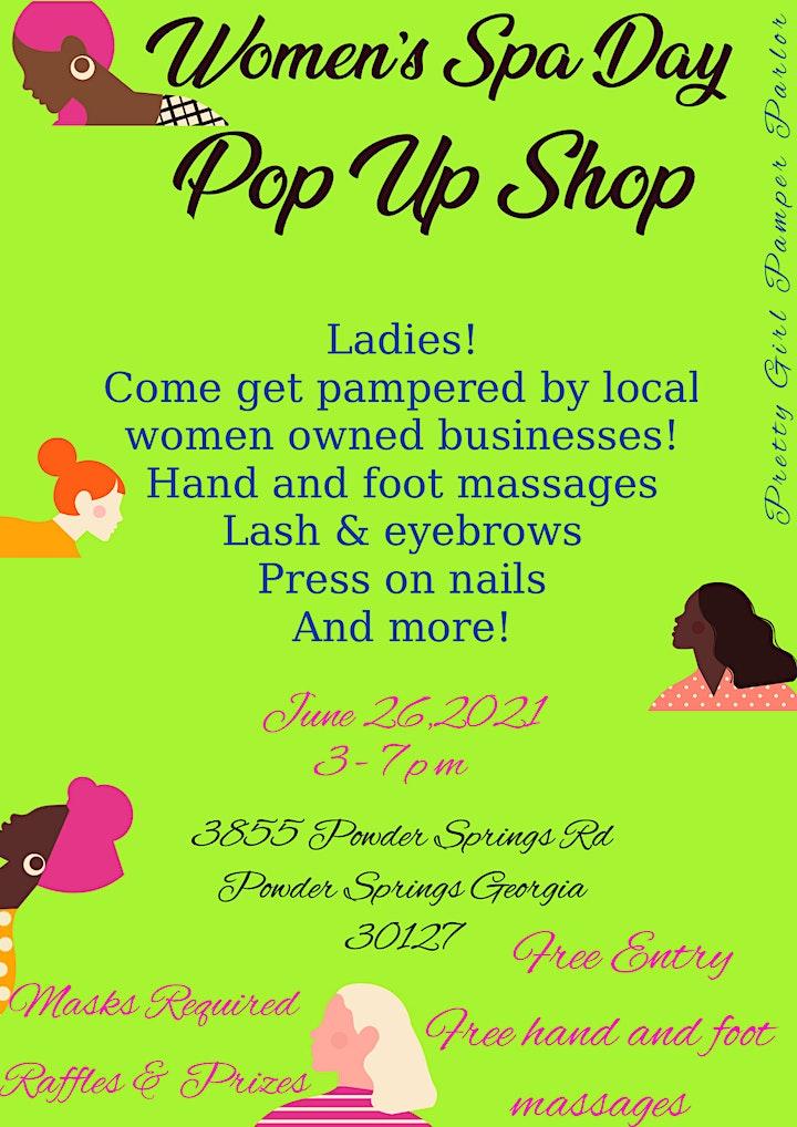 Women's Spa Day Pop Up Shop image