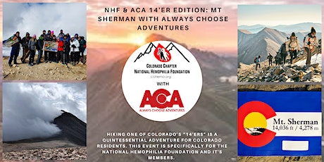 NHF & ACA 14er Edition: Hike Mt Sherman with Always Choose Adventures tickets