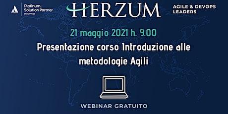 """Presentazione del Corso """"Introduzione alle metodologie Agili"""" biglietti"""
