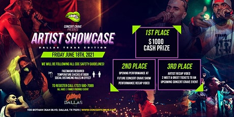 Concert Crave Artist Showcase - Dallas, TX 6.18.21 tickets