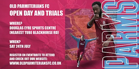 Open Day & Trials - Old Parmiterians FC (Walthamstow) tickets