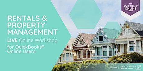 Rentals & Property Management Workshop for QuickBooks Online Users billets