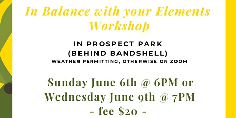 In balance with your elements - wellness workshop tickets