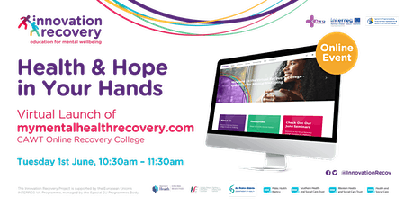 Health & Hope  in Your Hands - Virtual Launch of mymentalhealthrecovery.com tickets
