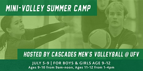 UFV Mini Volleyball Camp  AGES 9-10 tickets