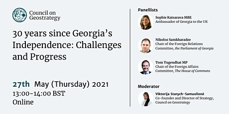 30 Years Since Georgia's Independence: Challenges and Progress tickets