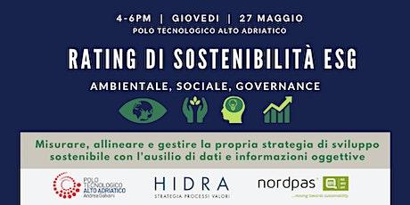 RATING di sostenibilità ESG - Ambientale, Sociale, Governance biglietti