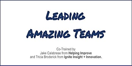 Agile Leadership: Leading Amazing Teams [LAT] - Virtual tickets