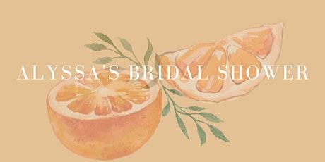 Alyssa's Bridal Shower tickets