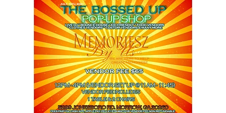 The Bossed Up Pop Up Shop tickets