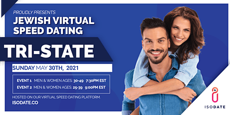 Isodate's Tri State Jewish Virtual Speed Dating tickets