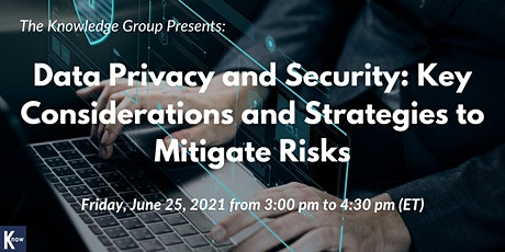 Data Privacy and Security: Key Considerations and Strategies tickets