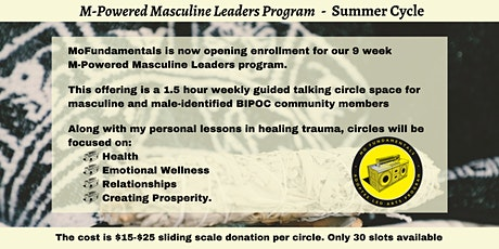M-Powered Masculine Leaders Program - Summer Cycle Tickets