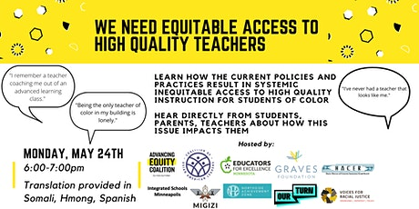AEC Teacher Equity Townhall tickets