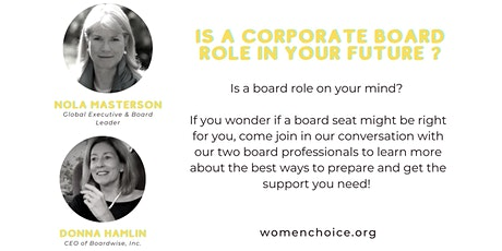 Is a Corporate Board Role in Your Future tickets