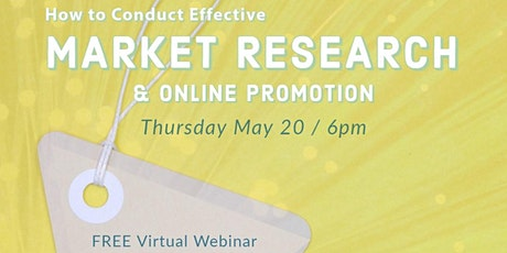 How to Conduct Effective Market Research & Online Promotions tickets