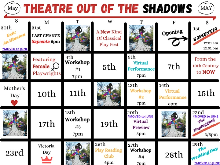 Festival - Theatre Out Of The Shadows (May 1st - 31st) image