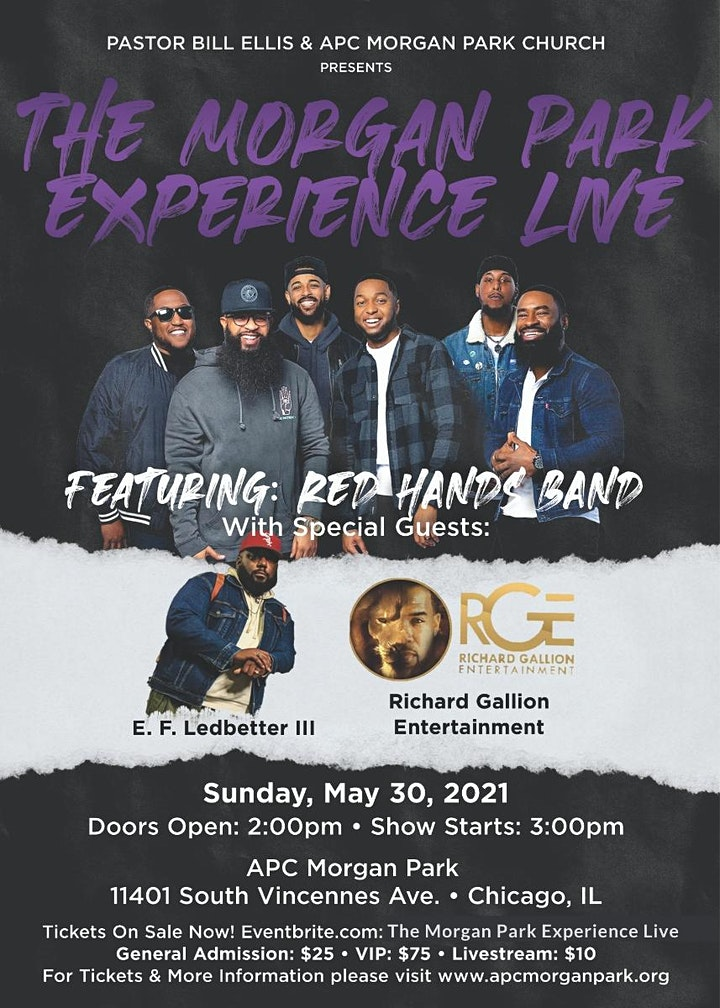 THE MORGAN PARK EXPERIENCE  LIVE featuring  RED HANDS BAND image