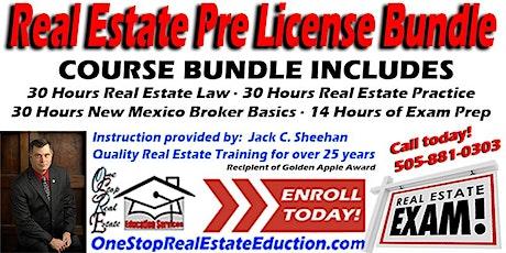 "New Mexico Real Estate Pre-License Bundle Starting November 4 ""Live Online"" tickets"