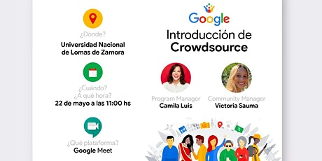 "Charla sobre ""GOOGLE - Introducción al Crowdsource"" entradas"