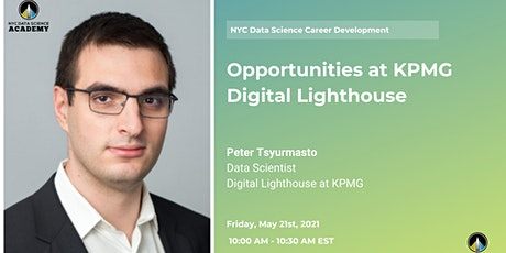 NYCDSA Career Development | Opportunities at KPMG Digital Lighthouse tickets