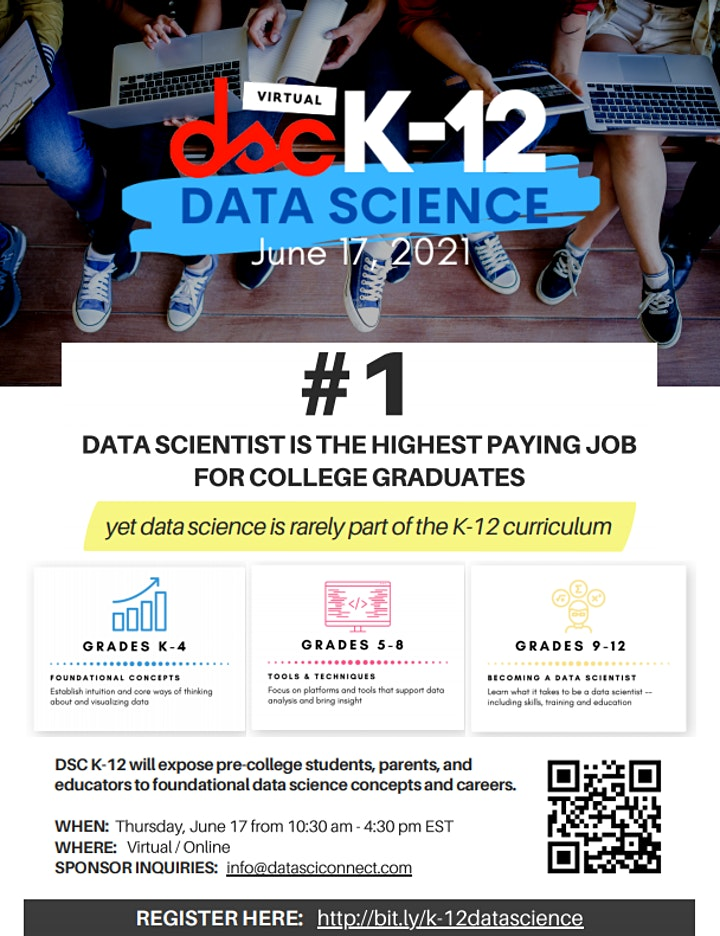 FIRST EVER K-12 Data Science Conference 2021 image