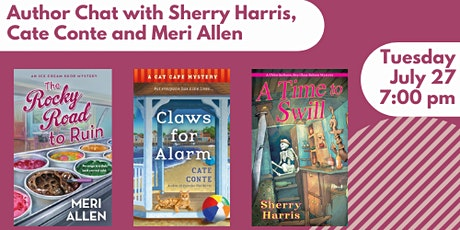 Author Chat with Sherry Harris, Cate Conte and Meri Allen tickets
