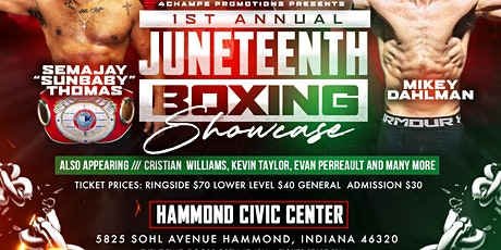 Juneteenth Boxing Showcase tickets