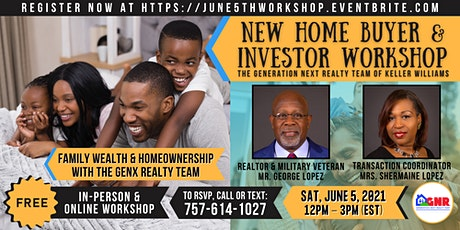 Build & Leave a LEGACY - One-Stop-Shop Home Buyer & Investor Workshop tickets