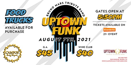 Uptown Funk- Summer Concert - Bruno Mars Tribute Band tickets