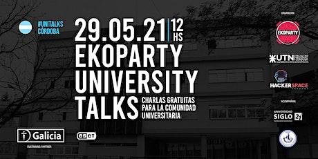 Ekoparty University Talks Córdoba 2021 entradas