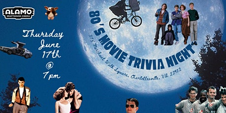 80s Movies Trivia at Alamo Drafthouse Charlottesville tickets
