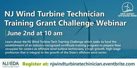 NJ Wind Turbine Technician Training Grant Challenge Webinar tickets