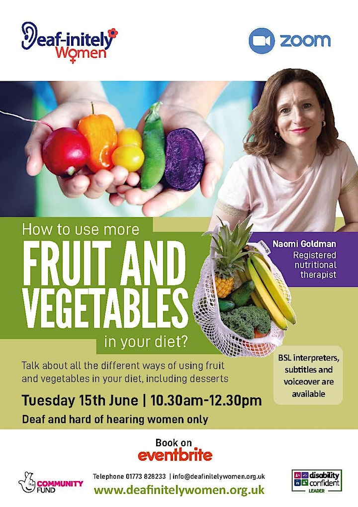 Deaf-initely Women: How to use more fruit and vegetables  in your diet? image