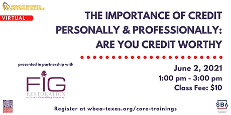 The Importance of Credit Personally & Professionally  Are You Credit Worthy biglietti