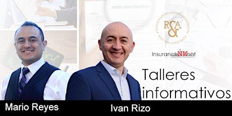 Taller Informativo con Mario Reyes e Ivan Rizo (WA STATE) entradas