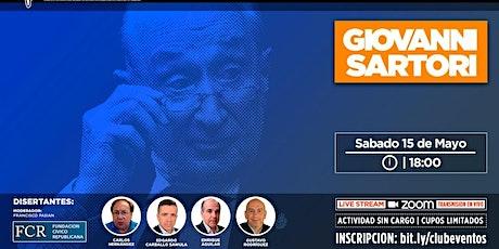 Homenaje a Giovanni Sartori. Sábado 15 de mayo de 2021, 18 horas. entradas