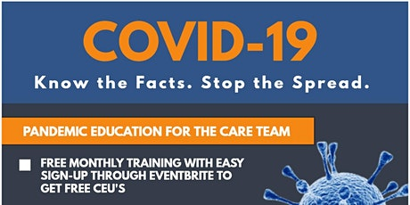 COVID-19: Pandemic Education for the Care Team tickets
