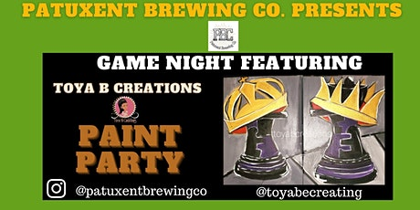 "Game Night"" ft. Toya B Creations Paint & Sip tickets"