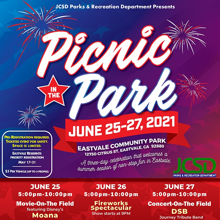 Picnic In The Park - Saturday, Fireworks Spectacular image