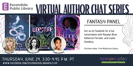 Virtual Author Chat Series: Fantasy Panel tickets