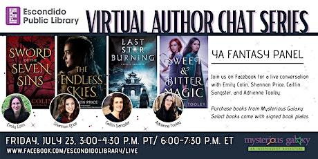 Virtual Author Chat Series: YA Fantasy Panel tickets